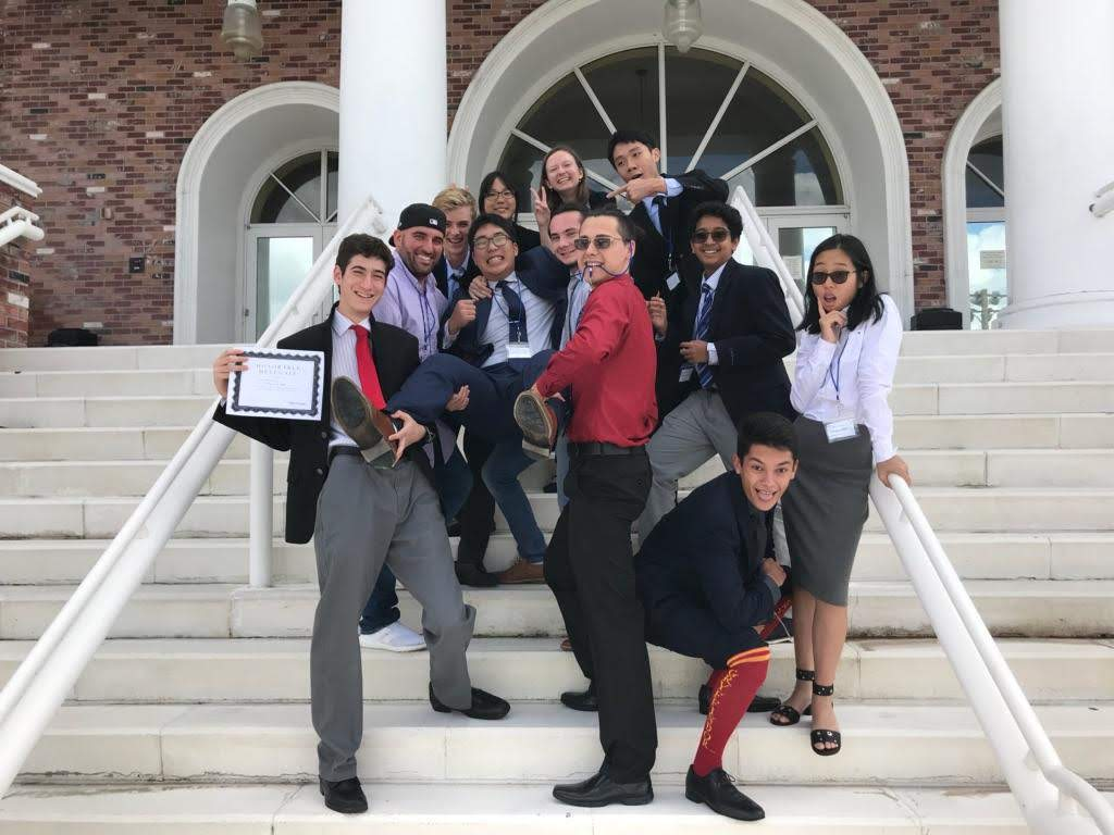 Model United Nations students group photo